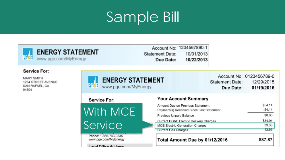 MCE Clean Energy Bill
