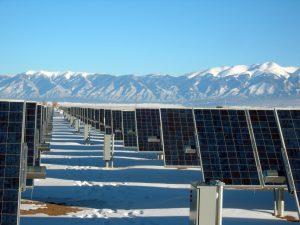 solar panels in snow - del sol energy